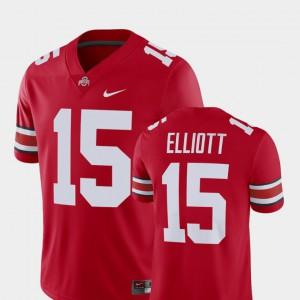 Men Ohio State Buckeye #15 Ezekiel Elliott Scarlet Alumni Football Game Player Jersey 998800-854