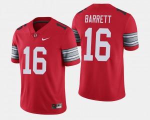 Men Buckeyes #16 J.T. Barrett Scarlet 2018 Spring Game Limited Jersey 828635-417