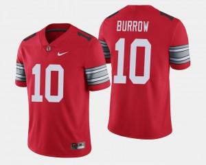 Men's OSU Buckeyes #10 Joe Burrow Scarlet 2018 Spring Game Limited Jersey 745086-289