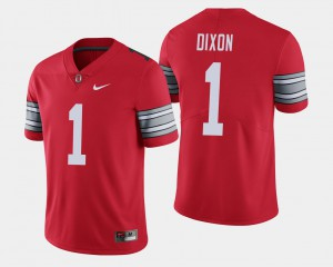 For Men's Ohio State Buckeyes #1 Johnnie Dixon Scarlet 2018 Spring Game Limited Jersey 213395-423