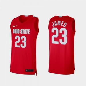 Men Ohio State #23 LeBron James Scarlet Alumni Limited Jersey 472913-864