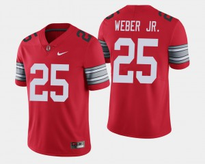 For Men's Buckeye #25 Mike Weber Scarlet 2018 Spring Game Limited Jersey 861211-838