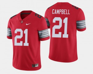 For Men's OSU Buckeyes #21 Parris Campbell Scarlet 2018 Spring Game Limited Jersey 982860-957