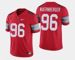For Men's OSU Buckeyes #96 Sean Nuernberger Scarlet 2018 Spring Game Limited Jersey 485551-235