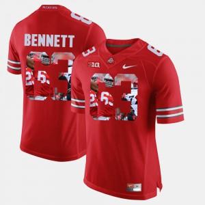 For Men Ohio State Buckeyes #63 Michael Bennett Scarlet Pictorial Fashion Jersey 750980-525