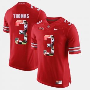 Men Ohio State Buckeyes #3 Michael Thomas Scarlet Pictorial Fashion Jersey 331577-224