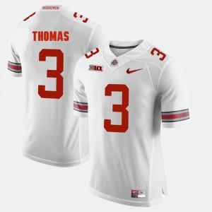 Men's Ohio State Buckeyes #3 Michael Thomas White Alumni Football Game Jersey 184870-241