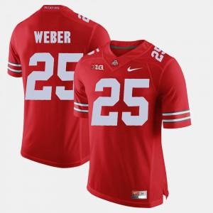 Men Ohio State Buckeye #25 Mike Weber Scarlet Alumni Football Game Jersey 776462-891