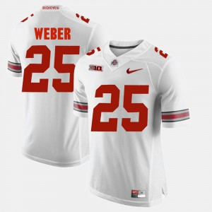 Mens Buckeye #25 Mike Weber White Alumni Football Game Jersey 853290-936