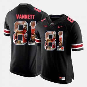 Men's OSU #81 Nick Vannett Black Pictorial Fashion Jersey 462398-193