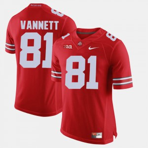 Men's Ohio State #81 Nick Vannett Scarlet Alumni Football Game Jersey 735714-410