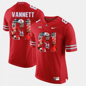 For Men's Ohio State #81 Nick Vannett Scarlet Pictorial Fashion Jersey 292324-354