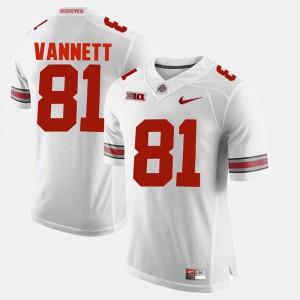 Men Buckeye #81 Nick Vannett White Alumni Football Game Jersey 288701-736