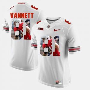 Men Ohio State Buckeyes #81 Nick Vannett White Pictorial Fashion Jersey 498681-858