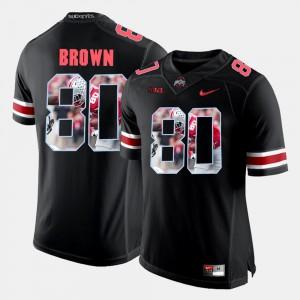 For Men Buckeyes #80 Noah Brown Black Pictorial Fashion Jersey 409057-242