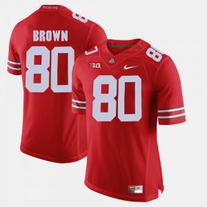Men's OSU #80 Noah Brown Scarlet Alumni Football Game Jersey 562269-818