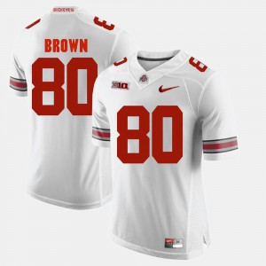 For Men's Ohio State #80 Noah Brown White Alumni Football Game Jersey 491901-379