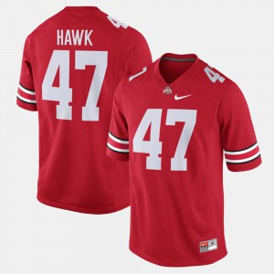 For Men Buckeyes #47 A.J. Hawk Scarlet Alumni Football Game Jersey 576373-359