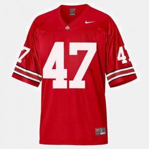 Mens Buckeyes #47 A.J. Hawk Red College Football Jersey 865319-351