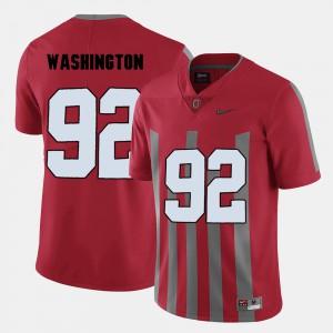 Men's Ohio State Buckeyes #92 Adolphus Washington Red College Football Jersey 452805-882