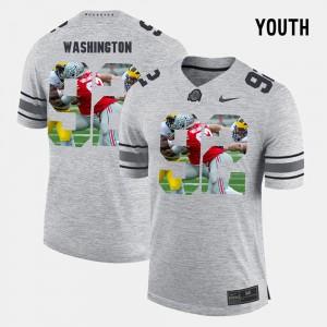 Youth Ohio State Buckeyes #9 Adolphus Washington Gray Pictorital Gridiron Fashion Pictorial Gridiron Fashion Jersey 562214-147