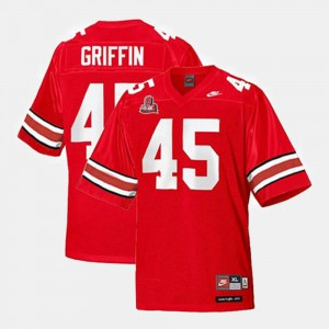 For Men Buckeyes #45 Archie Griffin Red College Football Jersey 989623-329