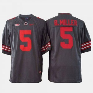 Men's Buckeyes #5 Braxton Miller Gray College Football Jersey 994996-305
