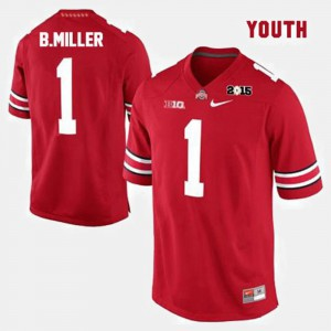 Youth Ohio State Buckeyes #1 Braxton Miller Red College Football Jersey 555323-160