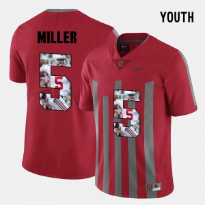 Youth(Kids) Ohio State #5 Braxton Miller Red Pictorial Fashion Jersey 391567-489