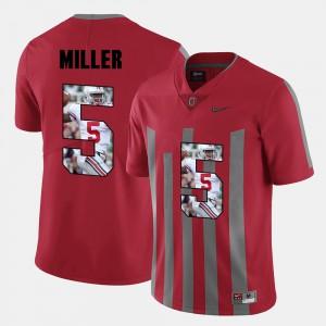 Men OSU #5 Braxton Miller Red Pictorial Fashion Jersey 946506-232