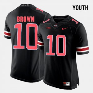 Youth(Kids) Ohio State #10 CaCorey Brown Black College Football Jersey 197497-506