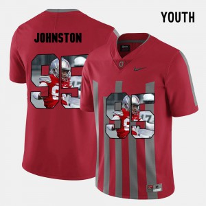For Kids OSU #95 Cameron Johnston Red Pictorial Fashion Jersey 482099-664