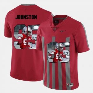 For Men's Ohio State #95 Cameron Johnston Red Pictorial Fashion Jersey 579116-922