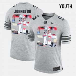 Youth Ohio State #95 Cameron Johnston Gray Pictorital Gridiron Fashion Pictorial Gridiron Fashion Jersey 997501-476
