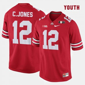 Youth Ohio State #12 Cardale Jones Red College Football Jersey 551022-504
