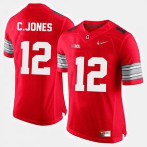 Men Ohio State Buckeye #12 Cardale Jones Red College Football Jersey 599591-528