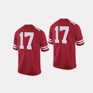 For Men Ohio State #17 Scarlet College Football Jersey 138862-383