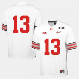 Men Ohio State #13 White College Football Jersey 774959-134
