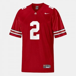 For Men OSU Buckeyes #2 Cris Carter Red College Football Jersey 837143-185