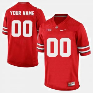 For Men's OSU #00 Red College Football Customized Jersey 345388-214