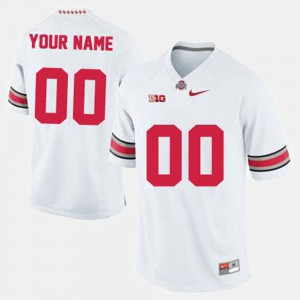 For Men Ohio State #00 White College Football Customized Jerseys 387143-973
