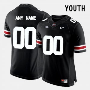 Youth(Kids) Ohio State #00 Black College Limited Football Custom Jersey 753299-944