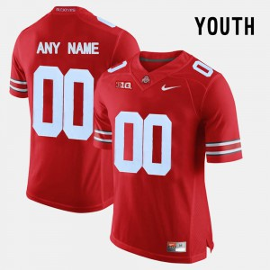 For Kids Ohio State #00 Red College Limited Football Customized Jersey 803140-322