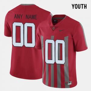 Kids Ohio State Buckeyes #00 Red Throwback Custom Jerseys 837640-994