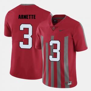 Men's OSU #3 Damon Arnette Red College Football Jersey 710162-975