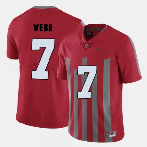 For Men Ohio State #7 Damon Webb Red College Football Jersey 870595-912