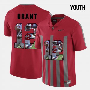 Youth Buckeyes #12 Doran Grant Red Pictorial Fashion Jersey 676631-365