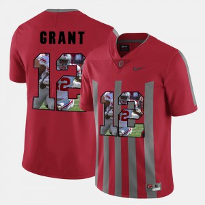 Men Ohio State Buckeye #12 Doran Grant Red Pictorial Fashion Jersey 744895-231