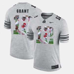 Men OSU #12 Doran Grant Gray Pictorital Gridiron Fashion Pictorial Gridiron Fashion Jersey 424047-882
