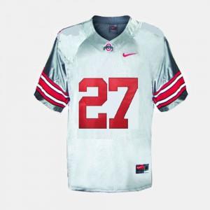 Men Buckeyes #27 Eddie George Gray College Football Jersey 807723-678